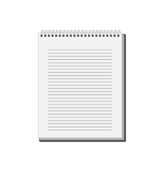 Blank notepad notebook with white lined pages vector