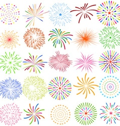 Fireworks display for new year and all celebration vector