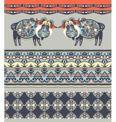 Ukrainian traditional tribal art in karakoko style vector