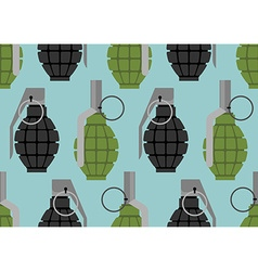 Hand grenade seamless pattern military munition vector