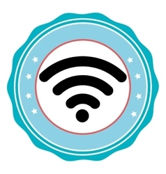 Wifi internet line icon vector