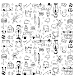 Doodles school theme hand draw vector
