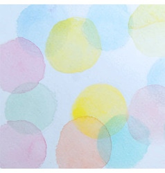 Abstract Watercolor Circles Background vector image