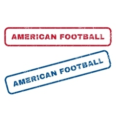 American football rubber stamps vector