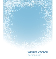 Background with rime for winter holiday vector image vector image