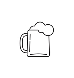 Beer glass icon isolated on white vector