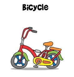 Bicycle cartoon art vector image