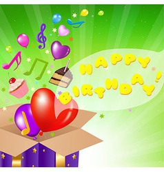 Birthday Card With Box vector image vector image