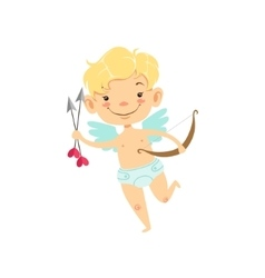 Boy Baby Cupid With Arrows And Bow Winged Toddler vector image