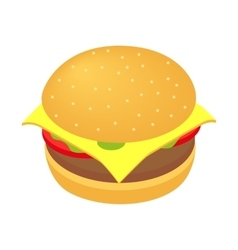 Burger isometric 3d icon vector