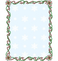 candy cane border vector image vector image