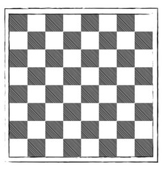 Chess board engraving hand drawn doodle scribbles vector