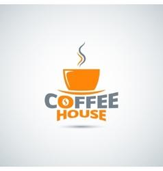 coffee cup label menu background vector image vector image