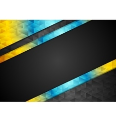 Colorful contrast abstract tech low poly vector image vector image