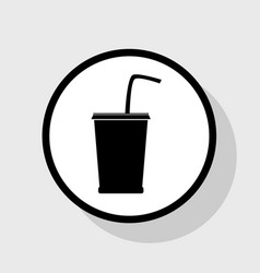 Drink sign flat black icon vector