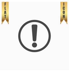 Exclamation mark flat icon vector image vector image