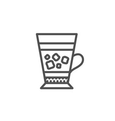 Frappe coffee icon cold drink sign vector