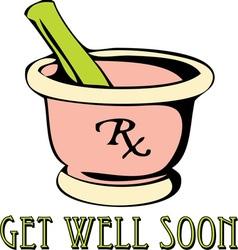 Get well vector