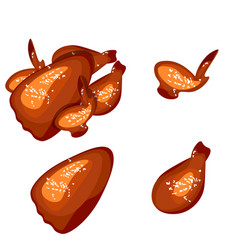 grilled chicken isolated vector image vector image