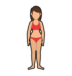 isolated cute standing women vector image vector image