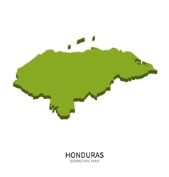 Isometric map of Honduras detailed vector image vector image