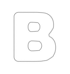 Letter b sign design template element red vector image letter b sign design template element vector image vector image pronofoot35fo Image collections
