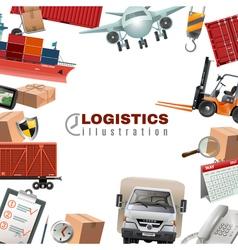 Logistics colorful template vector