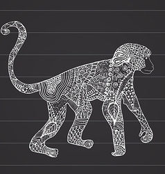 Ornamental hand drawn sketch of monkey in vector