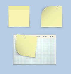 paper templates for notes vector image vector image