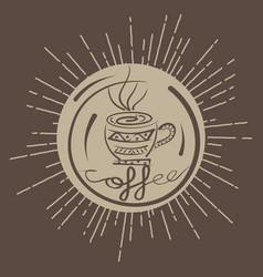 pattern coffee ethnic vector image vector image
