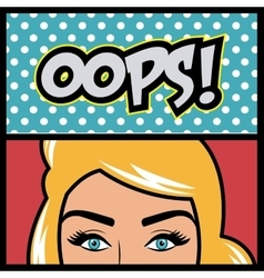 Pop art cartoon graphics vector