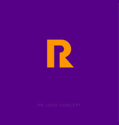 Pr logo concept public relations logo vector