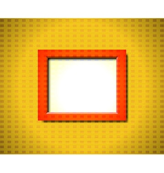 Red rectangular frame vector image vector image