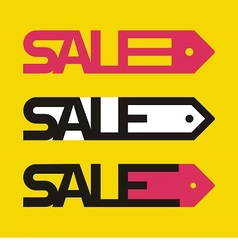 Sale tag icons vector