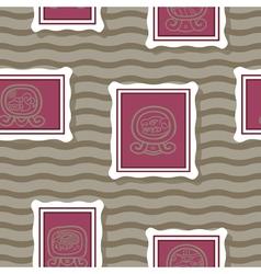 Seamless background with maya calendar named days vector
