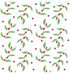 Seamless pattern branches and leaves of camu camu vector