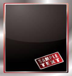 silver bevel window vector image vector image