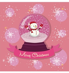 Snowman Snowball Snowflakes vector image vector image