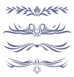 tattoo set four vector image vector image