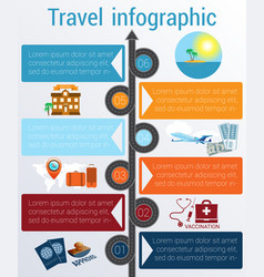 Travel infographic template 6 positions vector