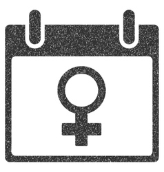 Venus female symbol calendar day grainy texture vector