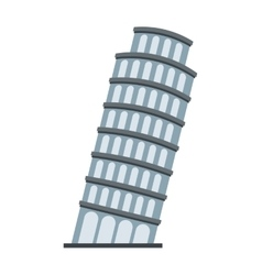 Piza tower italy icon vector