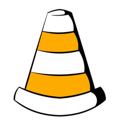 traffic cone icon icon cartoon vector image