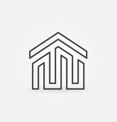 house building icon or logo vector image
