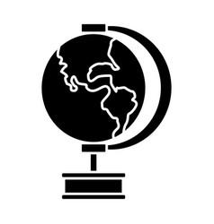 School globe map earth education element vector