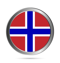 Norway flag button vector