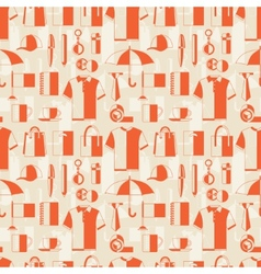 Seamless pattern with promotional gifts and vector image