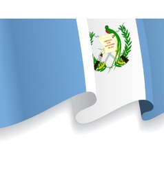 Background with waving guatemala flag vector