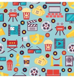 Seamless film and cinema background design vector