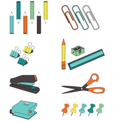 Office accessories vector